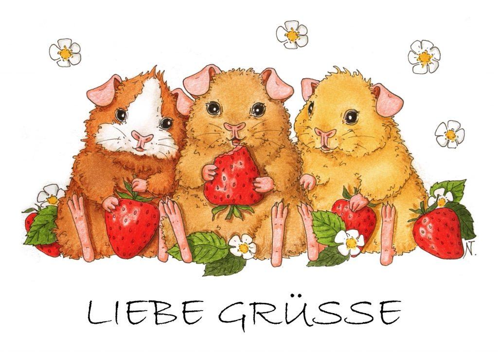 Liebe_Gruesse_Erdbeerenprint