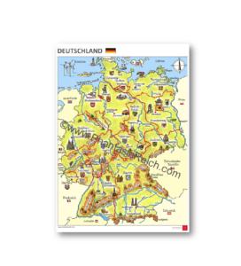Deutschland Karte Flusse Und Gebirge.Plakate Phantasiereich